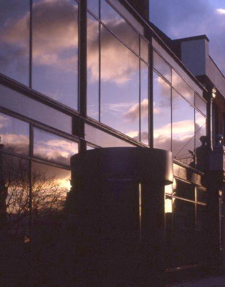 Bridge Studios, The Manser Practice #cladding #glass #glazing #reflective #reflection #reflections #historic #prefabricated #pre #fabricated