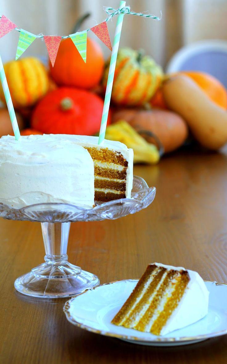 bábovko.cz: Slavím třetí narozeniny a upekla jsem si Snový dýňový dort! Juchůůůůů!!!