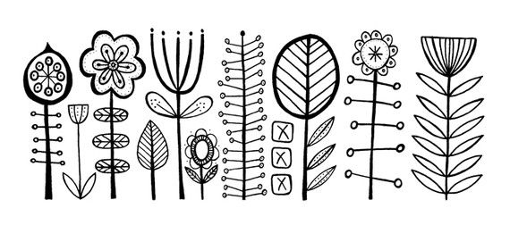 Embroidery Pattern from Illustration Bloomsbury by Lucie Summers at Summerville on etsy.com. Image Only. jwt