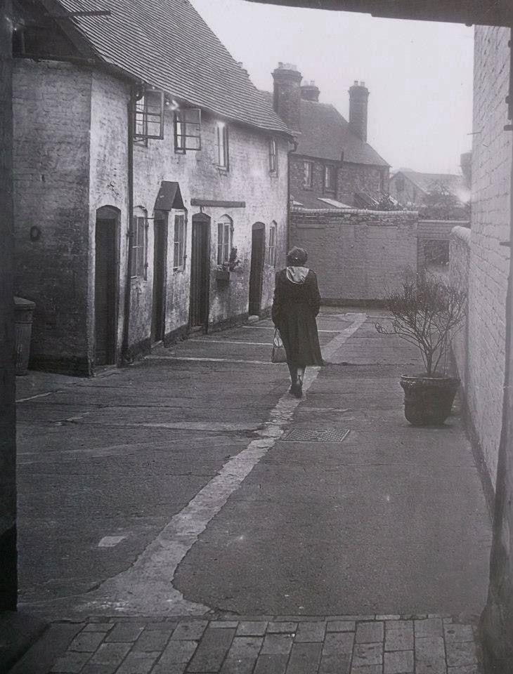 Cold Bath Court, Abbey Foregate. Where the monks used to bathe. Shrewbury, Shropshire