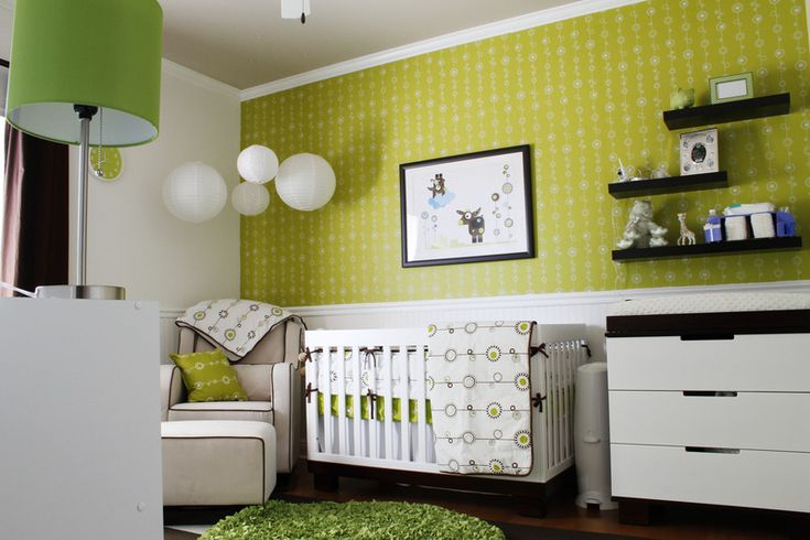 Olli & Lime bedding, prints and paper. #retro #nursery