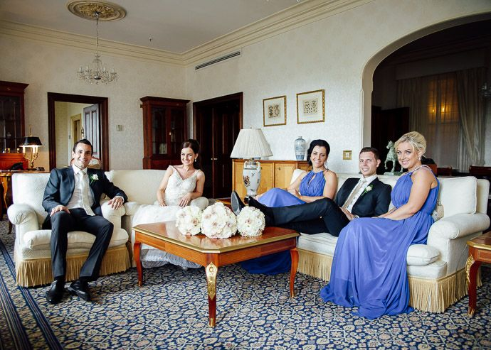 Bridal party in the Royal Suite at @Hotel_Windsor, Melbourne