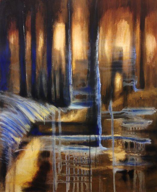 Angvert. Oil on canvas! ca 70 cm.