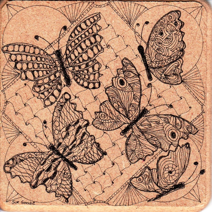 Best images about butterfly zentangle on pinterest