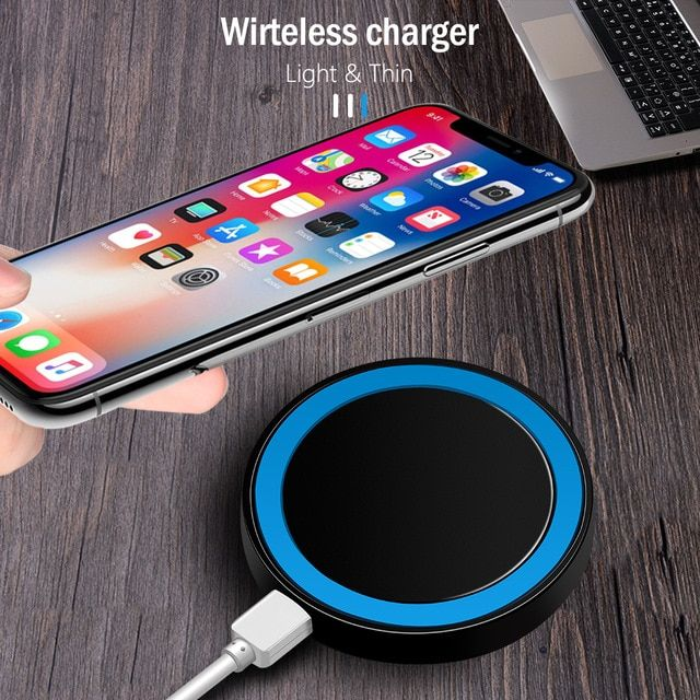 Mini Qi Wireless Charger Usb Charge Pad Charging For Iphone X 8 8 Plus Samsung Galaxy S6 S7 Edge S8 Plus Note 5 8 For Wireless Charger Iphone Wireless Samsung