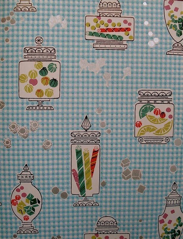 1950's wallpaper - candy theme, cute!