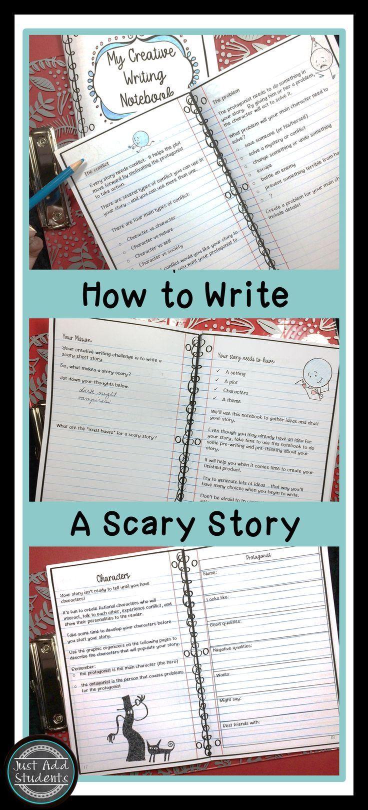 Write A Scary Story Creative Writing Notebook Creative Writing