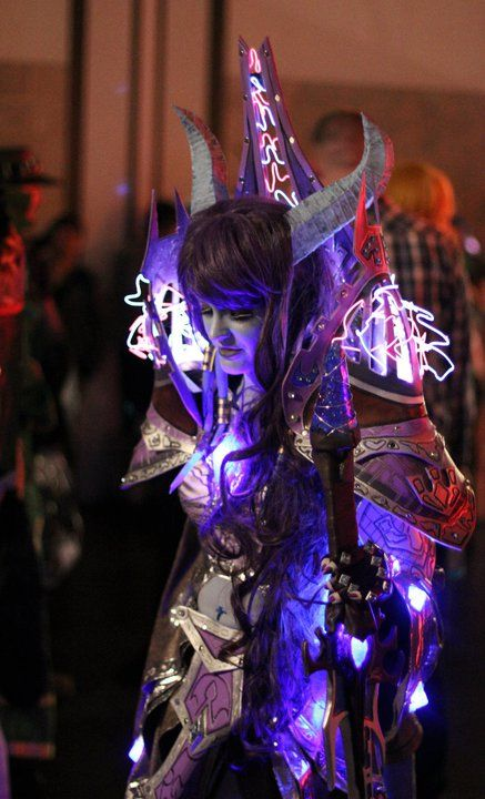 Ugh....Draenei.... But I LOVED this armor set, and she did an amazing job on it.