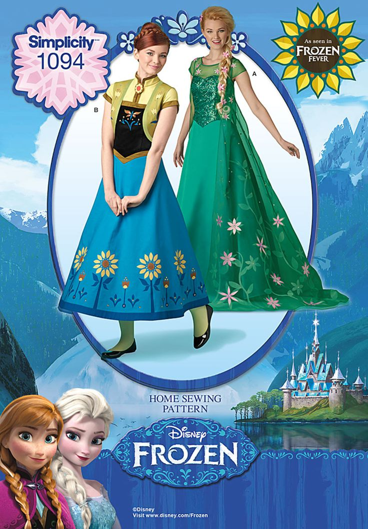 Simplicity Creative Group - Disney's Frozen Fever Misses' Costumes. Okay I can't be the only one who sees a OoT Zelda dress in Anna's dress just waiting to be let out. Just don't do the sleeves, alter the bottom of the bodice, and switch out the skirts and you've pretty much got it.