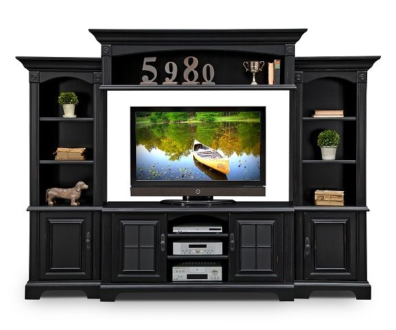 Berkshire II Entertainment Wall Units Collection - Value City Furniture-4 Pc. Entertainment Wall Unit $1,699.99