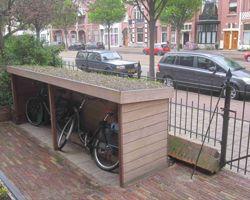 afdak voor fietsen