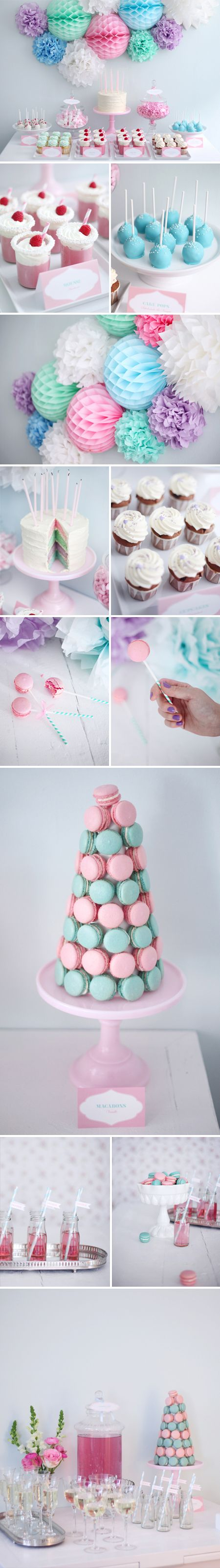 LOVE this even more - like all the diff colors w/ white anchoring everything. The cake pops are also shown there along w/ a bar.