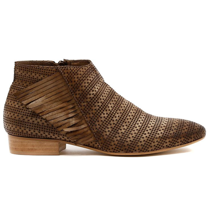 VAINO by Beltrami.   Here's an amazing ankle boot made extra special with a mix up of the season's hottest textures, pin punching and fabulous fringing! For a great transitional look, wear them with a light knit, skinny denim jeans and your best bag.  2cm heel. Leather upper, leather lining. Manmade sole. Made in Italy. http://www.cinori.com.au/made-in-italy/vaino/w1/i1207267_1006243/