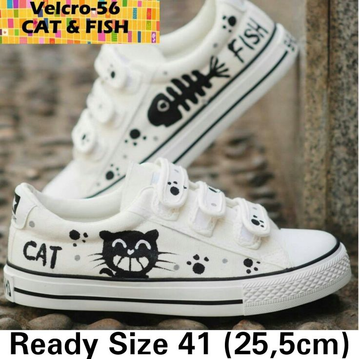 READY STOCK CANVAS SHOES KODE : Velcro-56 CAT&FISH Size 41 PRICE : Rp.200.000,- AVAILABLE SIZE (insole) : - Size 41(25,5cm)  MATERIAL : Canvas, Sol karet lentur,Gambar dilukis tangan(hand painted) menggunakan cat khusus textil yang tidak akan pernah luntur.  FOR ORDER : SMS/Whatsapp 087777111986 PIN BB 766A6420 Facebook : Mayorishop  #pusatsepatubootsanak #canvasshoes #paintedshoes #kidsshoes #toddlershoes #familyshoes #womenshoes #catfish #sepatuimport #readystock #mayorishop #bogor…