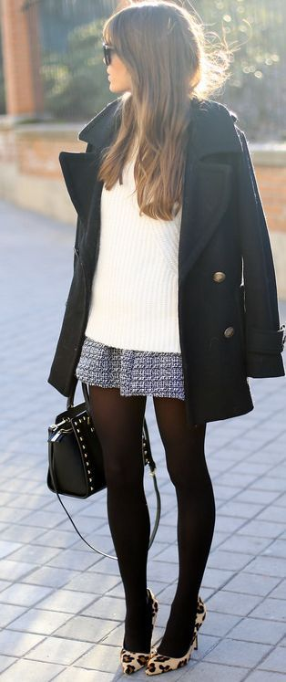 Best 10  Black coat outfit ideas on Pinterest | Coat, Brogues ...