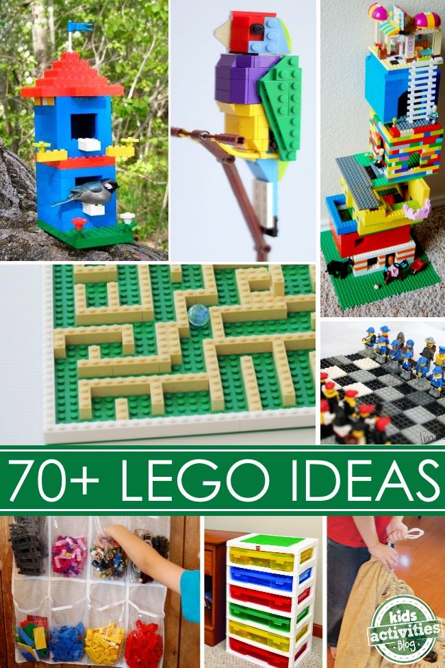 Lego activities, hacks, & organizing tips for kids.  Tons of ideas!