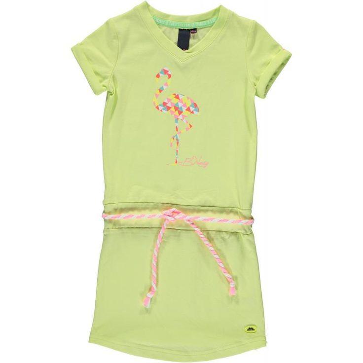 B.NOSY jurk flamingo (citron) maat: 92, 116, 128 en 152