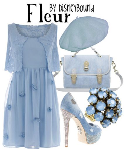 HP: Fleur inspired outfit by Disneybound at:  http://disneybound.tumblr.com/