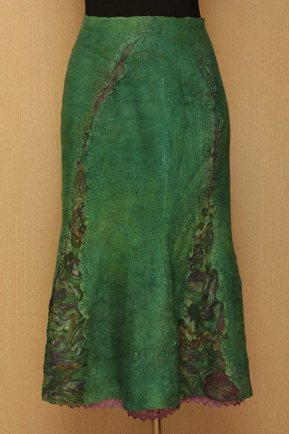 Mystic Groove / Felted Clothing / Skirt by LybaV on Etsy, $350.00