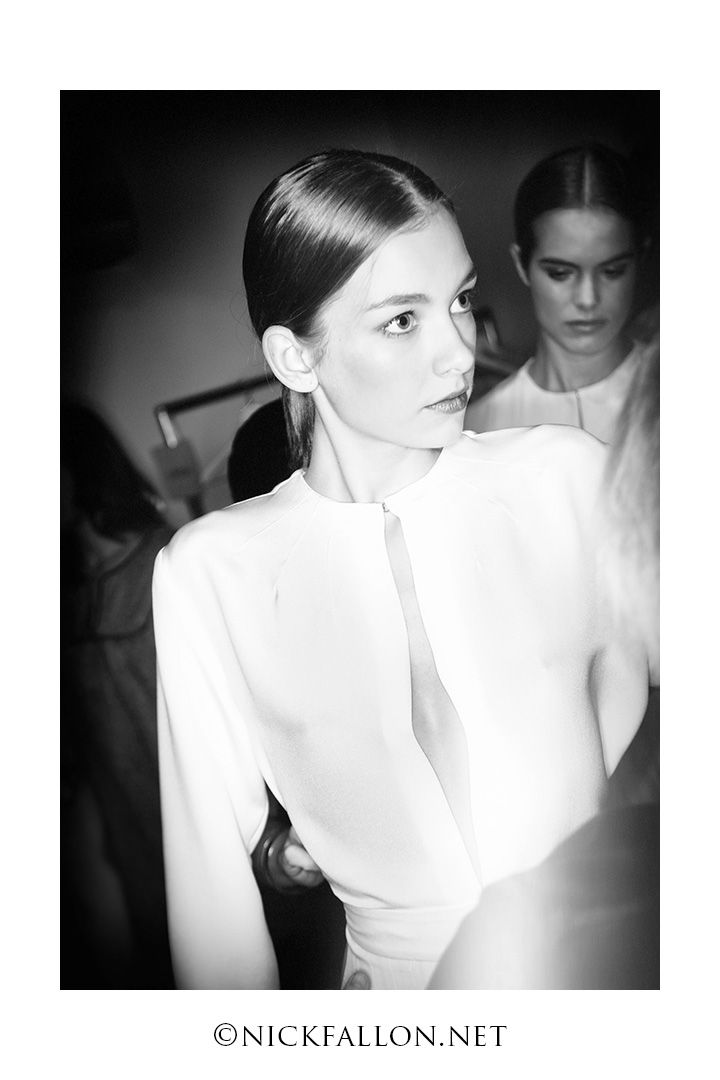 Reportage from LFW at the Emilia Wickstead show photo by Nick Fallon