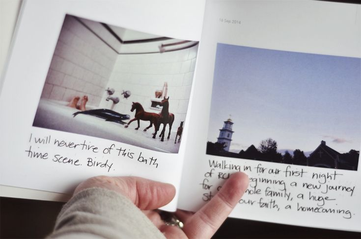 We love Chatbooks!! They print your Instagram photos into 60-page books for just $6 each. They come automatically, so you don't have to do a thing! Love how this mom writes in her captions by hand. More details and a coupon code for the first book free on this blog post.