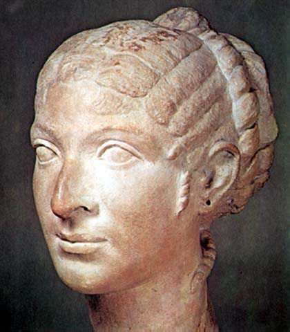 Cleopatra (69-30 B.C.) was the last of the Ptolemaic rulers of Egypt. She was notorious in antiquity and has been romanticized in modern times as the lover of Julius Caesar and Mark Antony.