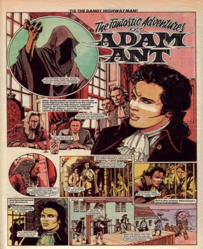 Clearly the BEST COMIC EVER: The Fantastic Adventures of Adam Ant (via Retronaut)