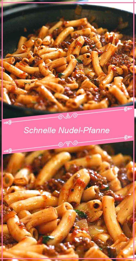 Schnelle Nudel-Pfanne – RezepteBlog.net