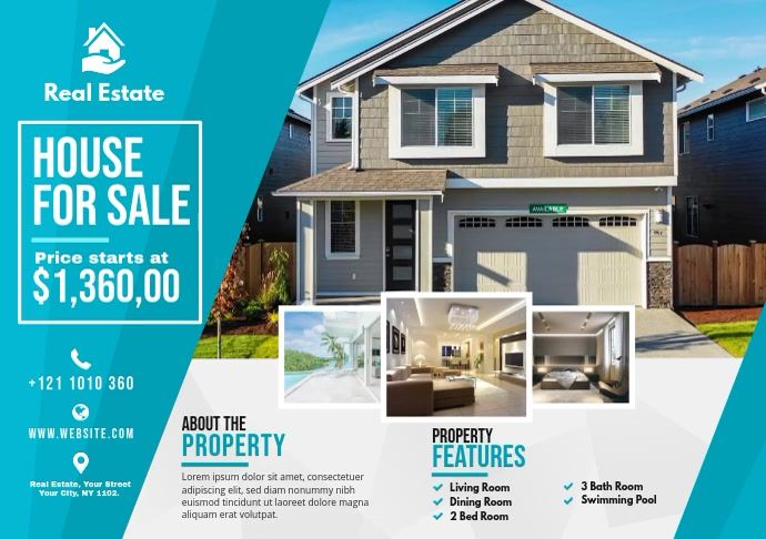Real Estate Ad In 2021 Real Estate Flyers Real Estate Flyer Template Real Estate Ads
