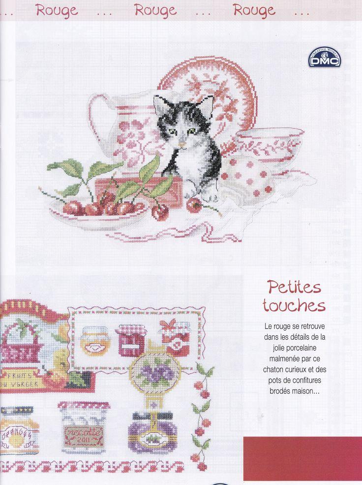 POINT DE CROIX No98,  DMC BK1046 jams & marmalade, Spices & Condiments