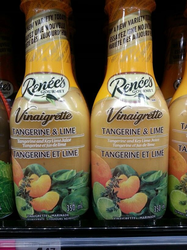 Product: Renee's tangerine and lime vinaigrette.  Store: FreshCo (Bunting Road, St. Catharines).  Many commercial salad dressings contain 1 or more high FODMAP ingredients.  This salad dressing (above) does not contain any high FODMAP ingredients and is therefore a good choice!  Neal Glauser, RD