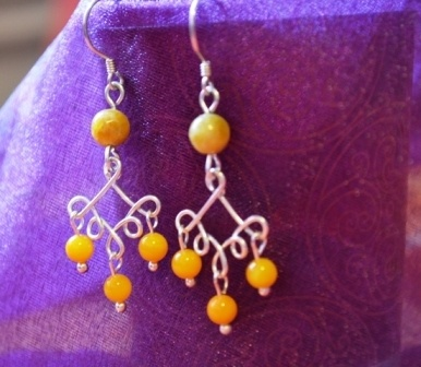 wire chandelier earrings