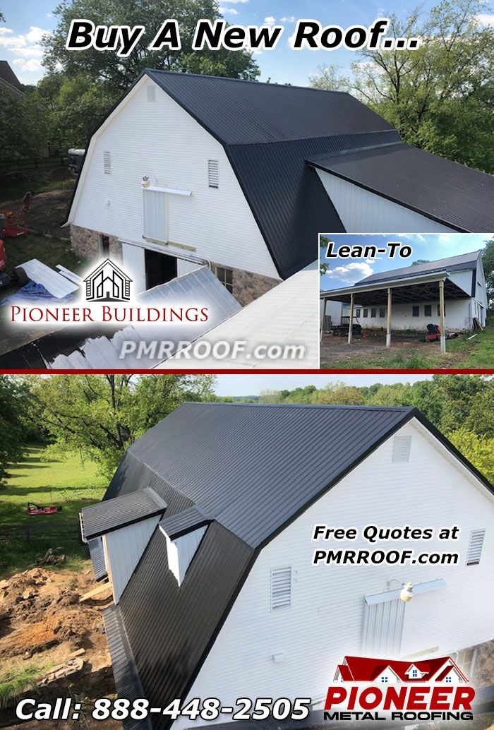 New Roof On Barn Metal Roof Roof Siding Roofing