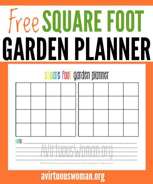Printable Square Foot Garden Planner @ AVirtuousWoman.org #thisismylifeplanner #squarefootgardening #gardening