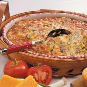 Sausage Brunch Casserole Recipe | Taste of Home Recipes