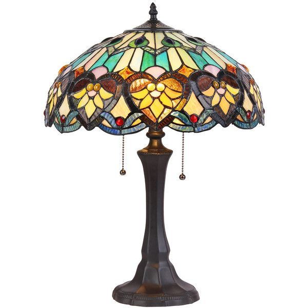 Chloe Lighting Tiffany Style Victorian Design 2-light Bronze Table... ($144) ❤ liked on Polyvore featuring home, lighting, table lamps, fillers, blue, bulb light, blue lights, chloe lighting, bronze light and incandescent lamp