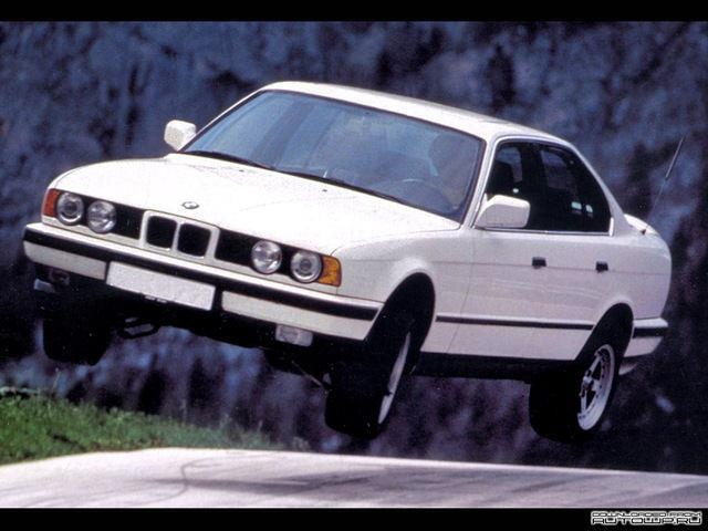 BMW 525i (E34) - BMW 5 Series E34 (1988–1996).  Mine was a 1992 w/ 5-speed. I bought it with 78k mi and it still accelerated to redline when I sold it with 184k. I should've kept it...