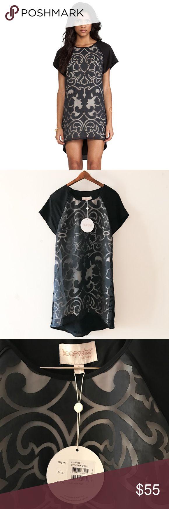 "Keepsake from ASOS black lace burnout dress small Gorgeous Keepsake dress in black lace burnout size small, approximately 32"" long ASOS Dresses Mini"