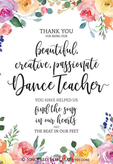Dance Teacher Thank You Quotes. QuotesGram |Dance Teacher Thank You Quotes