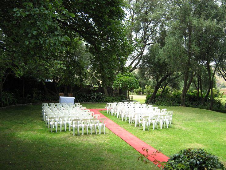 Ceremony setup on popular lawn area