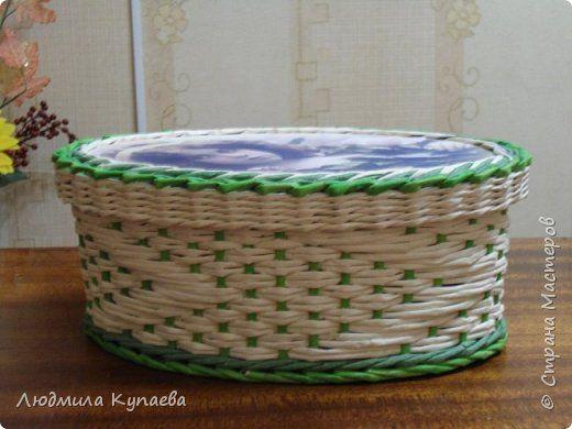 Поделка изделие Плетение Великолепие бумажного плетения Бумага газетная фото 1