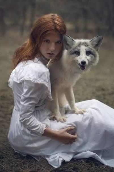 Best Fox And Girl Images On Pinterest Photography Dogs And - Russian photographer takes enchanting fairytale photos featuring wild animals