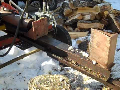 How I built my cheap hydraulic log splitter (Under $200) - Homemade log ...