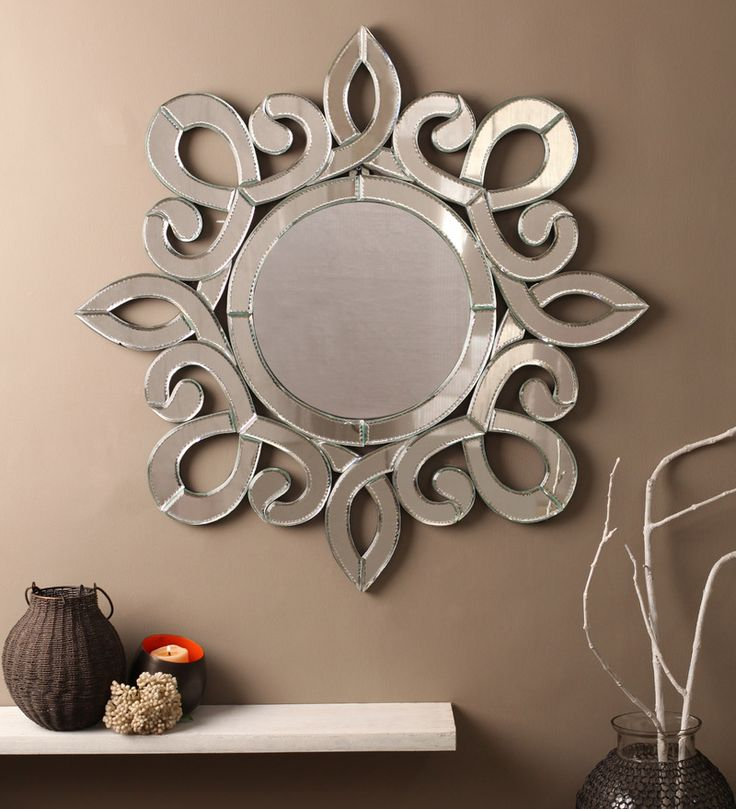 Flora Silver MDF Mirror #mirrors #mirror #reflectors #show #pinit #pinterest #shazliving Shop at: https://www.shazliving.com/