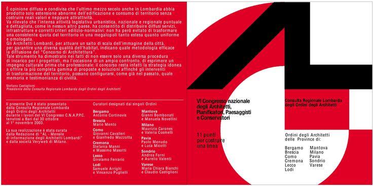 copertina dvd Consulta, VI Congresso CNAPPC, Bari, 2003 - progetto grafico: Veryweb