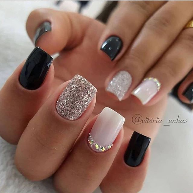 30 Nails Designs Inspirations In 2020 Short Acrylic Nails Designs Fall Acrylic Nails Classic Nails