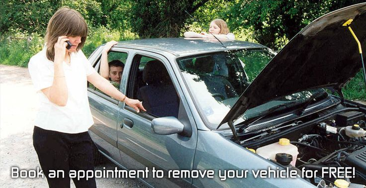 Book an appointment to remove your vehicle for FREE!