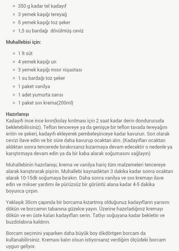 muhallebili kadayif
