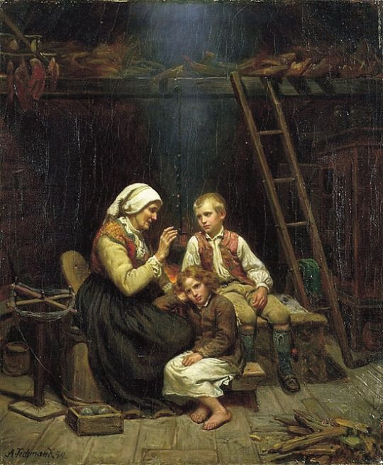 Grandmother's Tale Adolph Tidemand, 1854