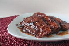 Drunken Pork Chops.  I LOVE this recipe.  I could literally drink the sauce!  YUMMY!